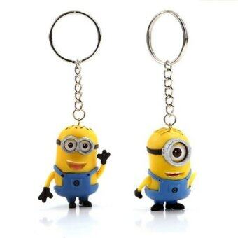 Harga Despicable ME 2 Yellow Minion Toys Key Chains 3D Eyes Cute Dolls kids Movie Figures Doll Key Ring Holder