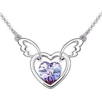 Harga LOVENGIFTS Swarovski Lovey Dovey Pendant Necklace (Lavender)