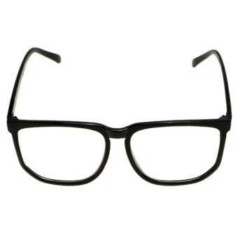 Harga Cyber Oversized Tortoise Shell Retro Nerd Geek Black Clear Lens Plain Glasses