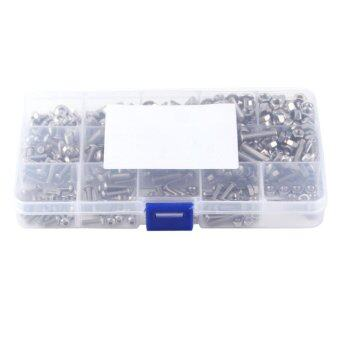 Harga 440pcs M3 M4 M5 Stainless Steel SS304 Hex Socket Button Head Bolts Screws and Nuts Assortment
