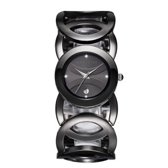 Harga JIANGYUYAN Stylish Classic Bracelet Watch for Fashion Ladies (Black)