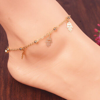 Harga European and american trade jewelry branded summer golden buddha pendant anklet anklets