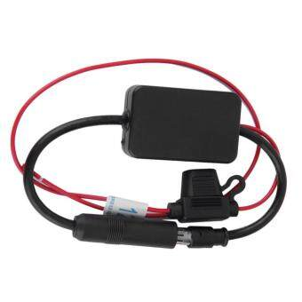Harga Allwin Black 12V ANT-208 Car Automobile FM Antenna Radio Signal Booster Amplifier Amp