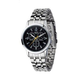 Harga Luxury Waterproof Stainless Steel Quartz Women Wrist Watch Jewelry Black