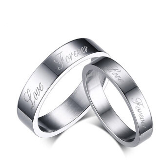 Harga Stainless Steel Couple Rings Wedding Bands Love Engagement Promise Couple Ring Set Gift for Lover
