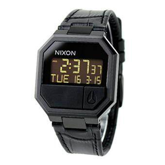 Harga Nixon Watch Re-Run Black Stainless-Steel Case Leather Strap Mens NWT + Warranty A944840