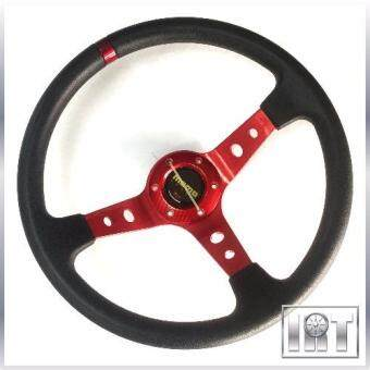 "Harga 14"" MOMO Drift Racing Rally Deep Steering Wheel 35.5cm (Red)"