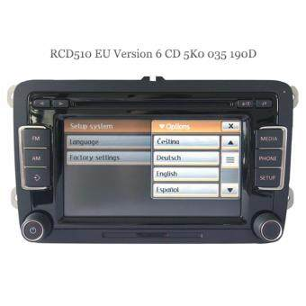IMPORT RCD510 EU Version 5K0 035 190D Original VW Standard Radio 6 Disc CD  Player Bluetooth RDS For VW Golf 5 6 Jetta CC Tiguan Passat Polo