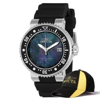 Harga INVICTA Pro Diver Men 40mm Case Black Silicone Strap Black DialQuartz Watch 22671 w/ Cap
