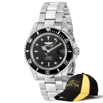 Harga Invicta Pro Diver Men 40mm Case Silver Stainless Steel Strap BlackDial Automatic Watch 8926OB