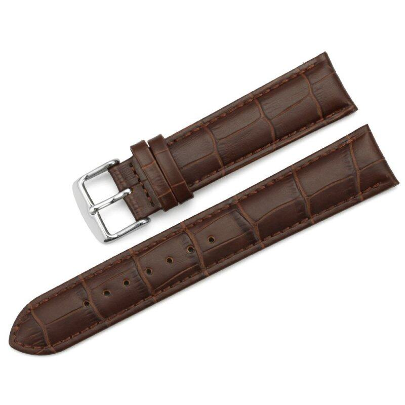 iStrap 22mm Replacement Calf Leather Strap Crocodile Grain Watch Band Accessories - Brown Malaysia
