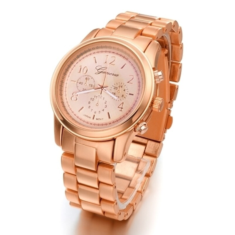 Jo.In Ladies Women Girl Stainless Steel Quartz Wrist Watch 4 Colours (Gold) Malaysia