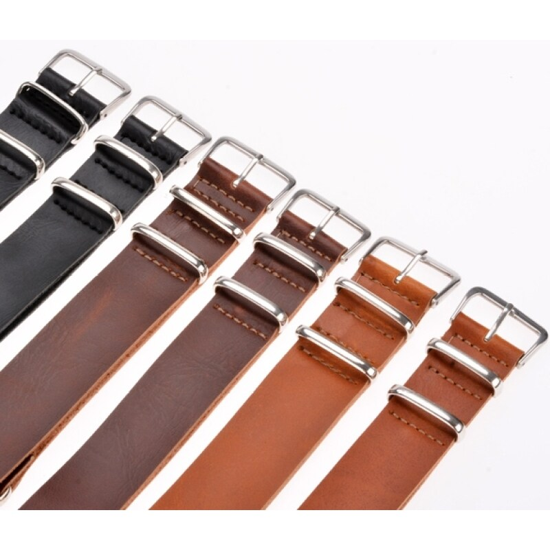 Jo.In 20MM\22MM Synthetic Leather Wrist Watch Wristwatch Band Strap (Brown) Malaysia