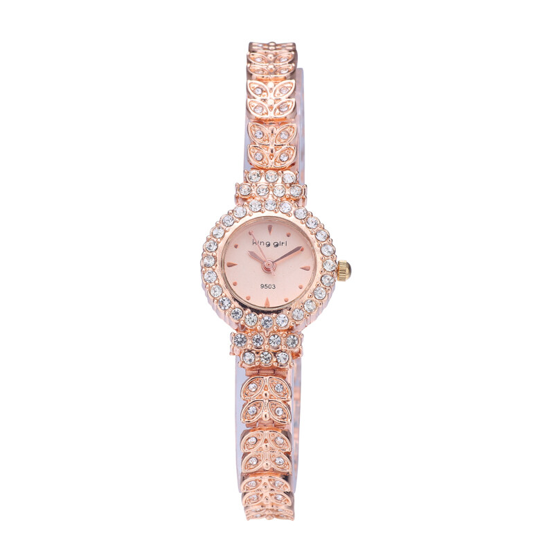 King Girl Womens Gold Stainless Steel Strap Watch a9133 Malaysia