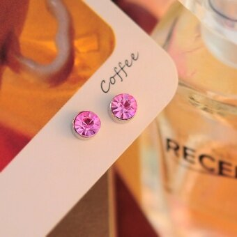 Korean-style round magnet no ear hole ear clip strong magnetic iron absorption magnet Boys Girls magnet earrings