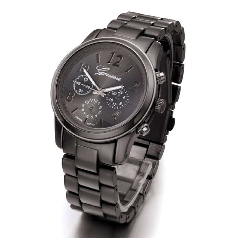 Ladies Women Girl Stainless Steel Quartz Wrist Watch 4 Colours (Black) Malaysia