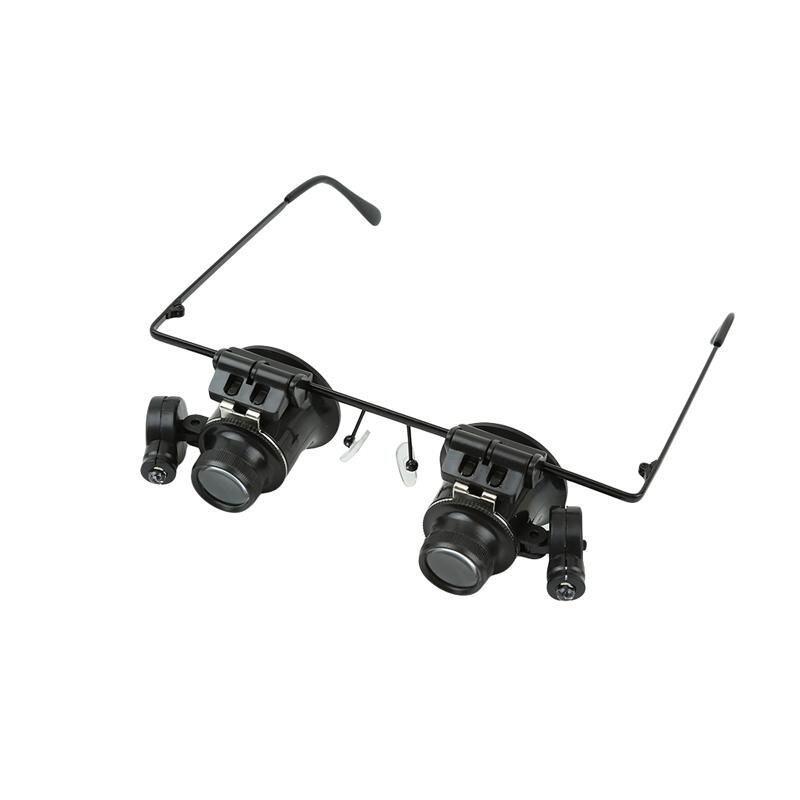 LALANG 20x Magnifier Magnifying Eye Glasses Jeweler Watch Repair LED Light (Black) Malaysia