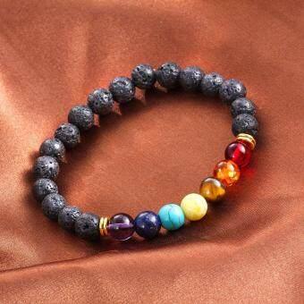 Lava Rock Beaded Yoga Gemstone Bracelets Mala Energy - 3