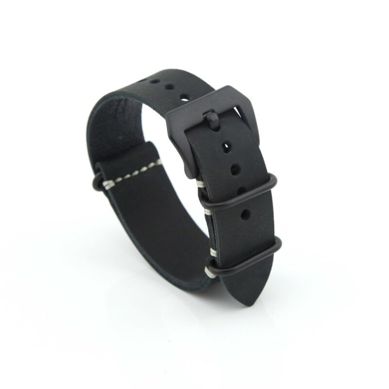 Leather Replacement Watch Band Strap Belt 22mm For Man or Woman (Black) Malaysia