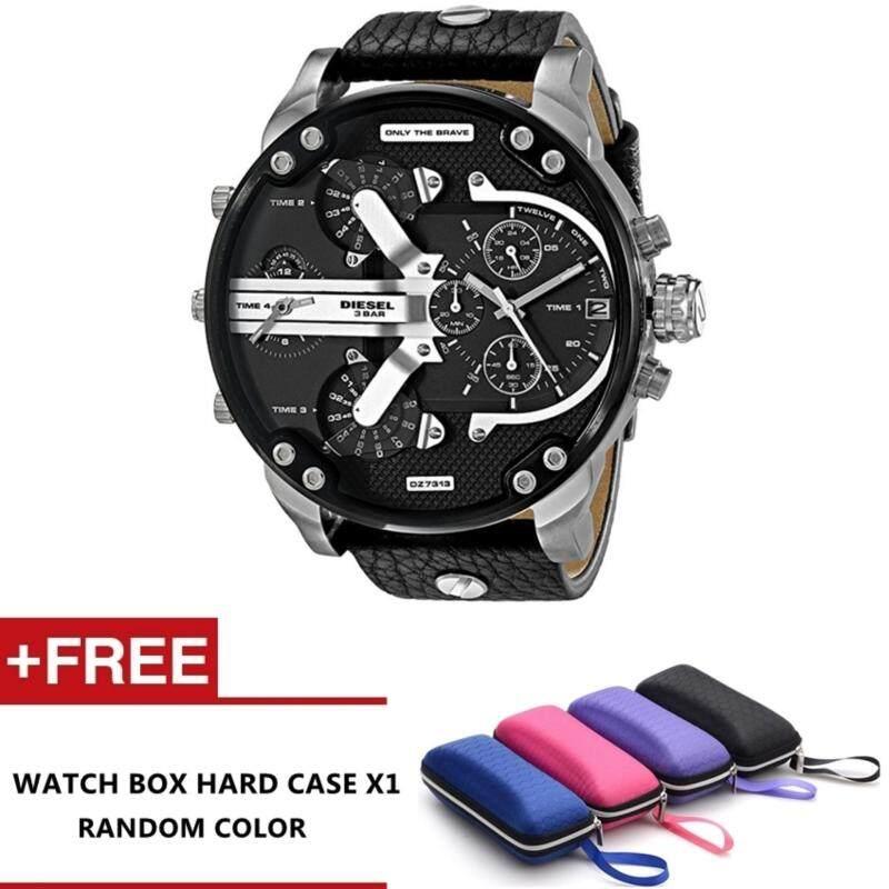 Luxardo Gunmetal Brown/ Black Leather Watch (Black) Malaysia