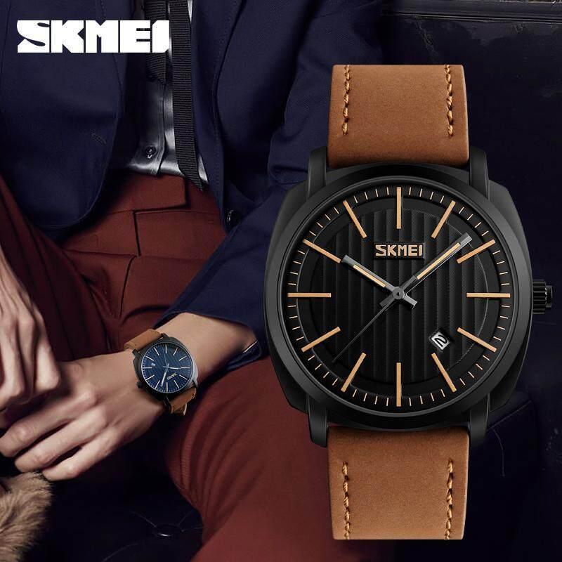 Luxury Brand Skmei Mens Watches Japan Movement Analog Quartz Men Vogue Leather Strap Wrist Watch Sports Wristwatches 9169 Malaysia