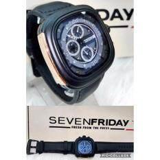 Jam Tangan Pria Sevenfriday Sfy 3435 Leather Strap Design Source · Men Watch SevenFriday Black
