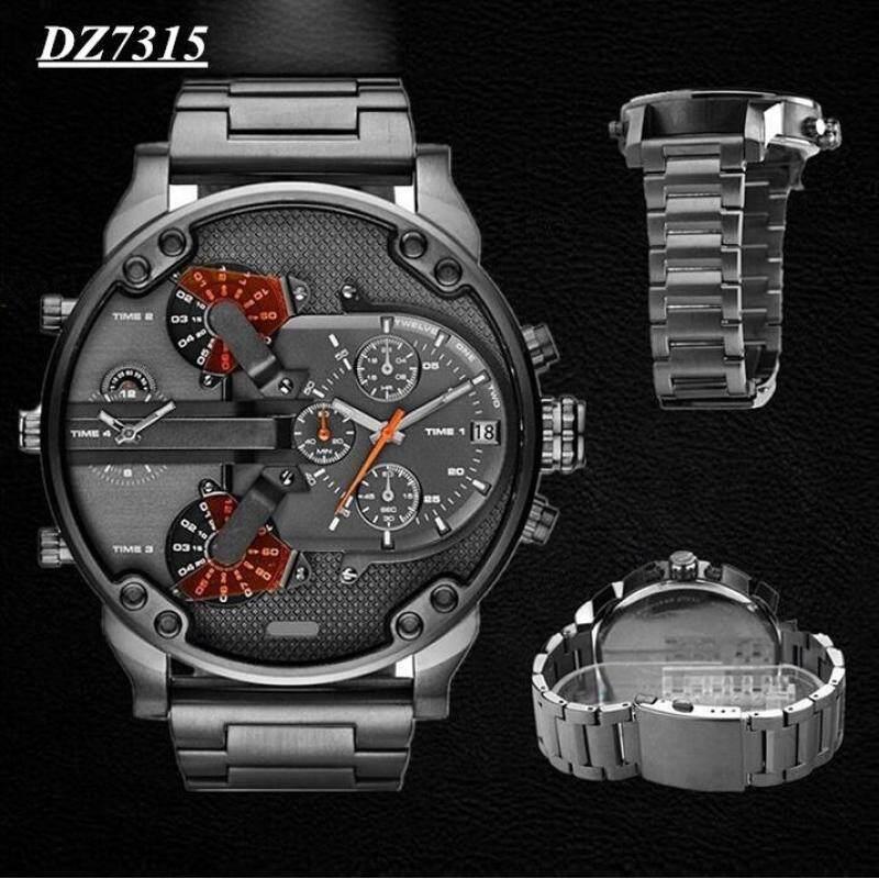 Mens Fashion Luxury Watch Stainless Steel Sport Analog Quartz Wristwatches Grey Malaysia