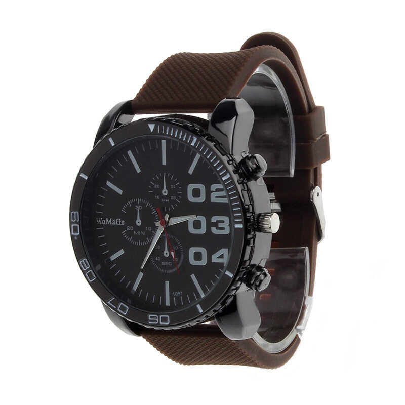 Men's Luxury Sport Analog Quartz Mens Stainless Case Steel Wrist Watch (Coffee) Malaysia