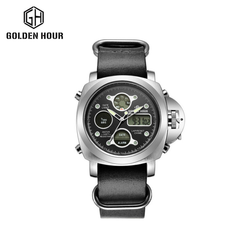 Metal watch antique watch factory direct selling waterproof watch Golden hour Malaysia