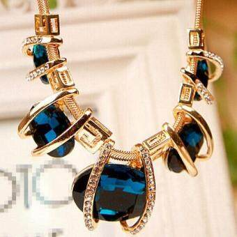 Missing U Women's Hollow Geometric Choker Collar Vintage BohemiaRhinestone Chain Pendant & Necklace Jewelry for Party Holiday - 2