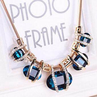 Missing U Women's Hollow Geometric Choker Collar Vintage BohemiaRhinestone Chain Pendant & Necklace Jewelry for Party Holiday - 3