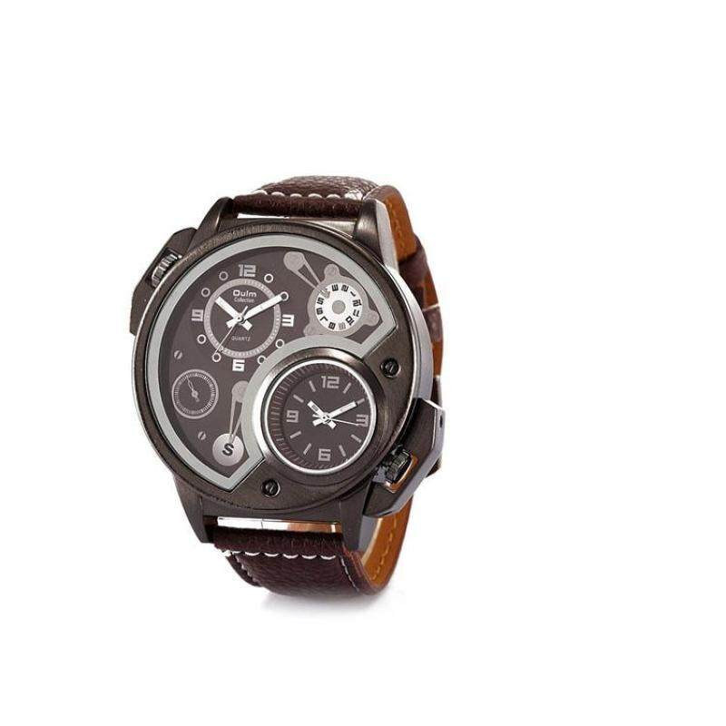moob Europe radium factory wholesale fashion trend of foreign trade personality mens watches / two travel time 2015 new HP3578 (Brown) Malaysia
