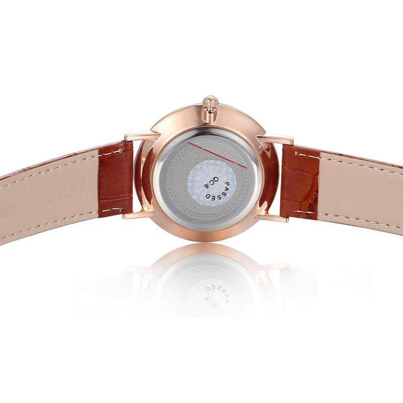 moob Fashion watches rose gold diamond surface wave LONGBO Long delicate white-collar temperament calendar watch (Gold) Malaysia