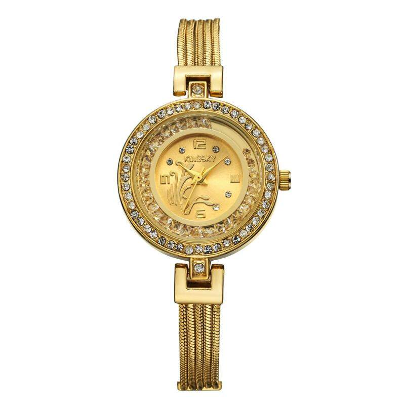 moob Kingsky color factory wholesale Damen quartz watch diamond watch exports the Middle East hot models one or two (Gold) Malaysia