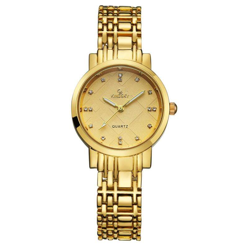 moob Kingsky new watch quartz watch manufacturers custom personality table fashion watch (Gold) Malaysia