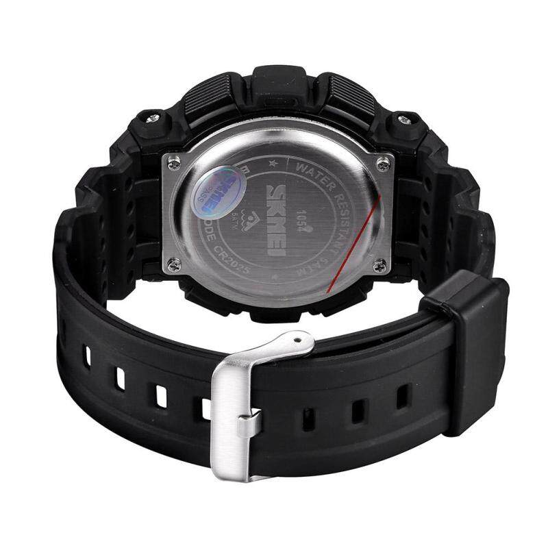 moob SKMEI authentic fashion students watch electronic watches wholesale multicolor tide (Black) Malaysia