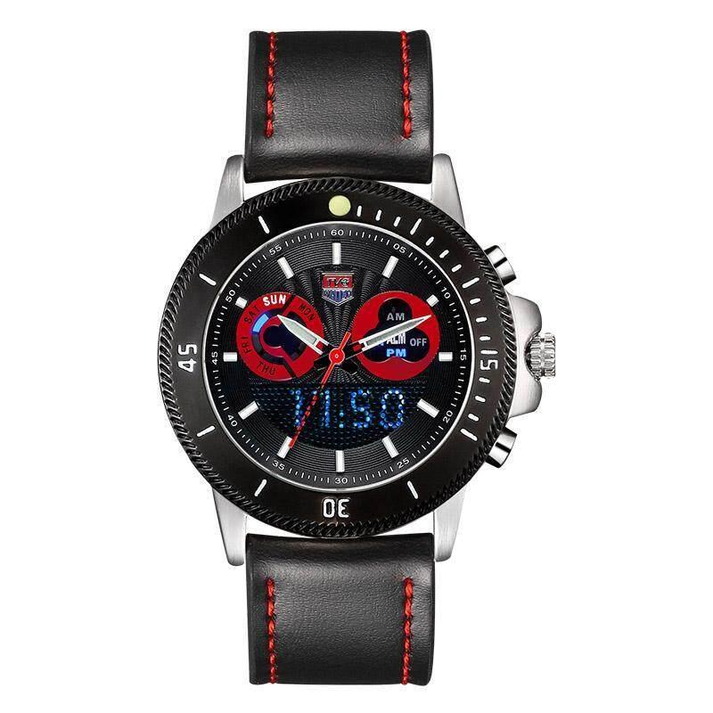 moob TVG mens watch Boys fashion leather watch multifunction luminous waterproof electronic watch (RedBlack) Malaysia