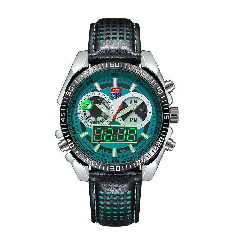 moob TVG new students watch male electronic watch fashion strap watch waterproof luminous movement table (Green) Malaysia