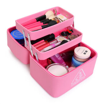 Multi-function large portable professional cosmetic case storagebox