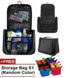 Multifunction Travel Hanging Wash Bag Toiletry Bag Black FREE make up bag