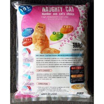 NAUGHTY CAT Lemon Scented SUPER CLUMPING CAT LITTER (10Liter) - 2