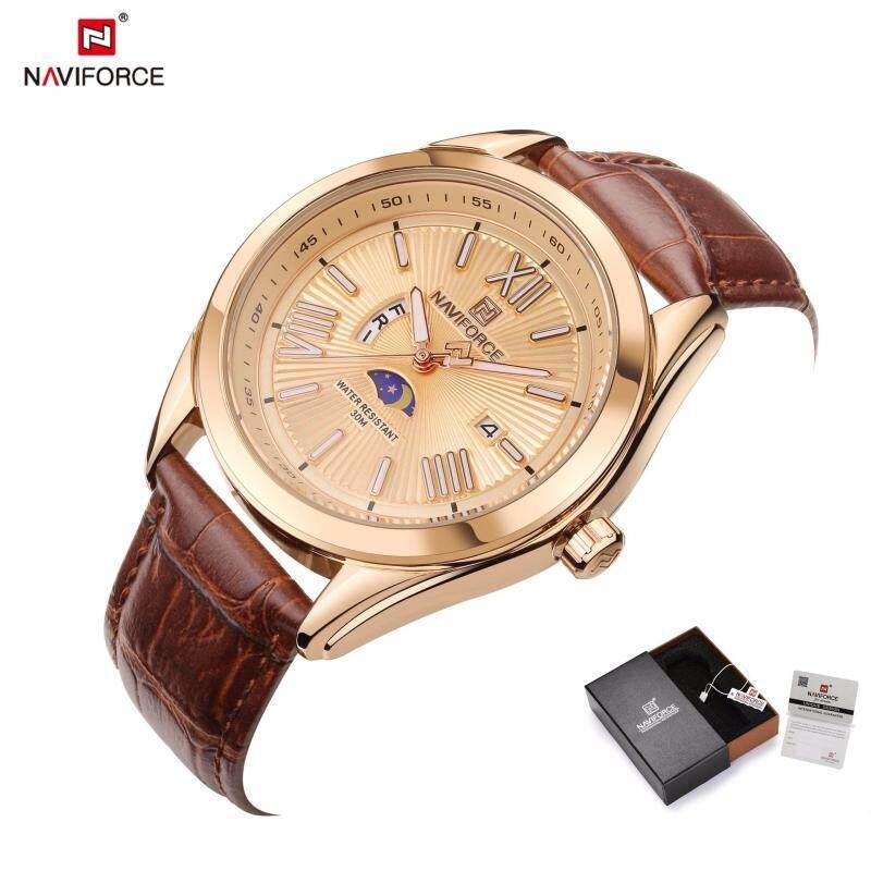 New naviforce elite brand men s watch leather simulation quartz watch mens date waterproof sports watch fashion mens watch Malaysia