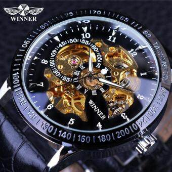 New Winner Gold Watches Luxury Brand Men's Fashion Automatic Hollow Out Man Mechanical Watches Waches relogio