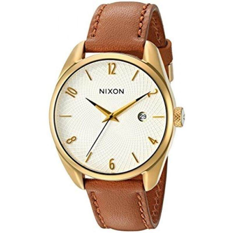 Nixon Womens A4731425-00 Bullet Leather Analog Display Japanese Quartz Brown Watch Malaysia
