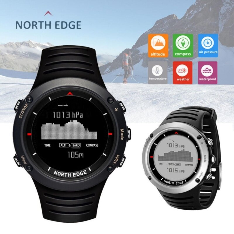North Edge Altay Sports Smart Outdoor Compass Wrist Watch Back Light For Fishing Malaysia
