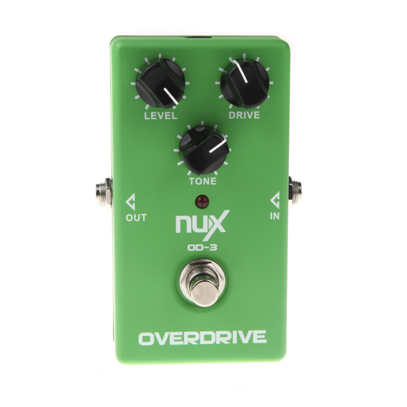 NUX OD-3 Overdrive Guitar Electric Effect Pedal Ture Bypass Green Malaysia