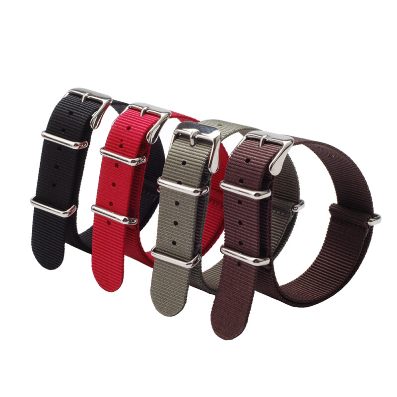 Nylon Watch Strap 4-piece (Black Red Green Brown) Malaysia