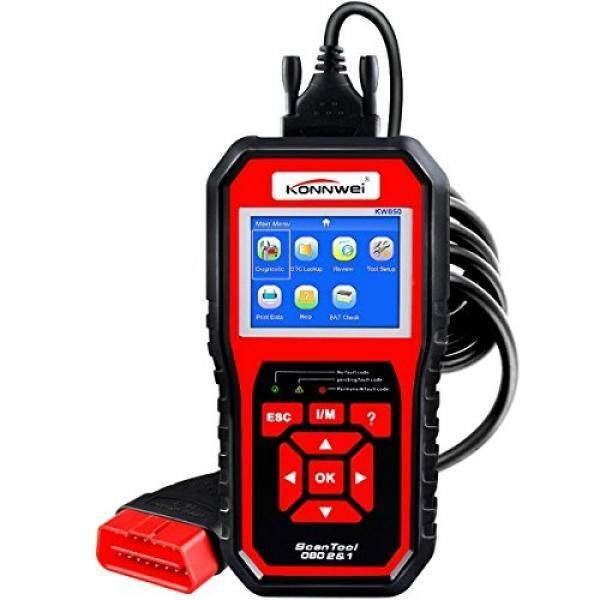 OBDII Auto Diagnostic Code Scanner KONNWEI KW850 Universal Vehicle Engine O2 Sensor Systems Scanner OBD2 EOBD Scanners Tool Chec - intl