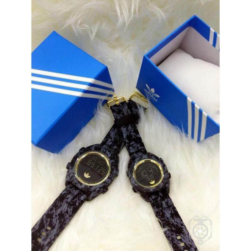 [Pattern Design] Black +Gold Couple Watch Adidas Malaysia