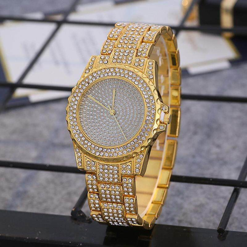 PerfectWorld Water Rhinestone Watch Fashion Diamond Quartz Stainless Steel Band Gift Malaysia